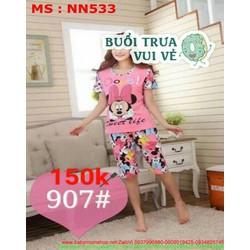 Đồ mặc nhà nữ quần lửng hình chuột mickey xí teen NN533