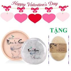 Quà valentine -Hộp xà bông rửa mặt trị mụn sáng da cho nam free 1btxp
