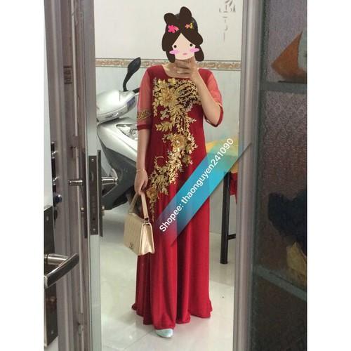 Đầm dạ hội dự tiệc trung niên sang trọng ELB1