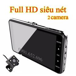 Camera hành trình FUll HD, 2 camera, chính hãng