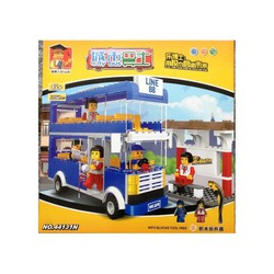 đồ chơi xếp hình khối, hình xe buýt 2 tầng 44131 gồm 302 miếng Lego