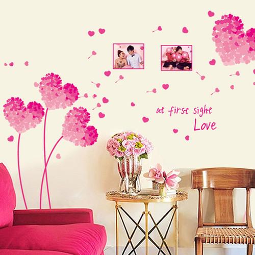 Decal dán tường Hoa tim hồng - 10557011 , 8396448 , 15_8396448 , 75000 , Decal-dan-tuong-Hoa-tim-hong-15_8396448 , sendo.vn , Decal dán tường Hoa tim hồng