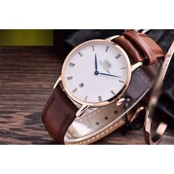 Đồng hồ dây da phong cách đơn giản pha chút cá tính WD12M01