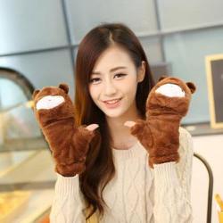 Bao tay hình gấu mang 2 kiểu