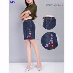 Váy jeans tuyệt đẹp Ngọc Trinh