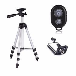 Chân máy chụp hình Tripod 3110 + Remote + Đầu kẹp điện thoại