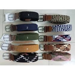 Thắt lưng vải co giãn đan tết nhiều màu sắc thời trang phù hợp nam nữ