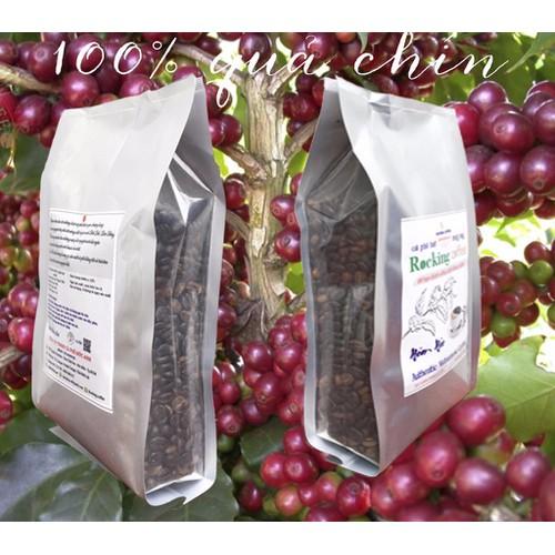 cà phê hạt - cà phê ĐakLak rocking coffee - 500gr