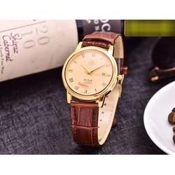 Đồng hồ dây da phong cách đơn giản pha chút cá tính MEGAO750N02