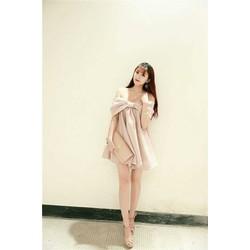 Đầm xuông rớt vai xinh xắn