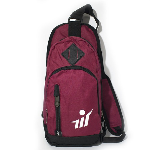 Túi gym đeo chéo đỏ hồng-MI7