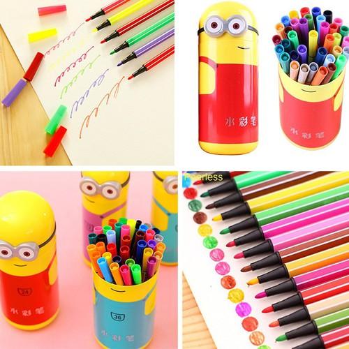 Hộp Bút Màu Minion 24 Màu Cho Bé | Bút chì màu | Quà Tặng Cho Bé