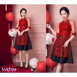 Set áo dài cách tân và Chân váy xòe hàng cao cấp - VAD04