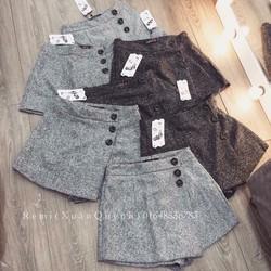 quần váy dạ tiêu 3 khuy-size s m