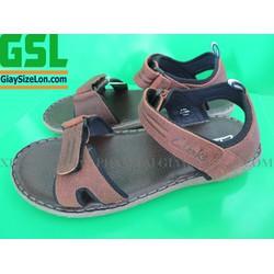 Sandal Clarks Size Lớn Xuất Khẩu Nâu