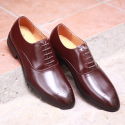 Giày nam cao cấp màu nâu mận