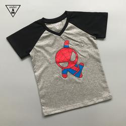 Áo thun cotton in hình người nhện cho bé trai