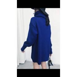 áo len xanh Cổ lọ cực hót