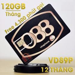 SIM 4G Vinaphone VD89P Tặng 120GB Tháng Gọi Miễn Phí