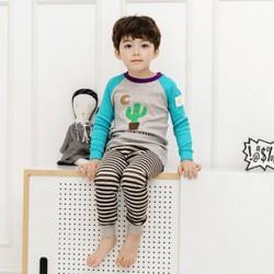 Quần áo bộ cho bé trai họa tiết sương rồng - quần áo thu đông cho bé