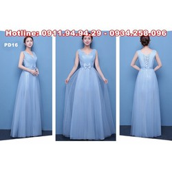 Áo cưới dạ hội màu xanh nhẹ nhàng PD16