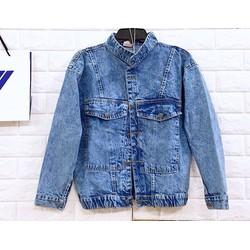 Áo khoác jeans wash màu cc