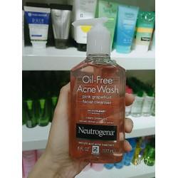Sữa Rửa Mặt Neutrogena Oil-Free Acne Wash Pink Grapefruit Facial Clean