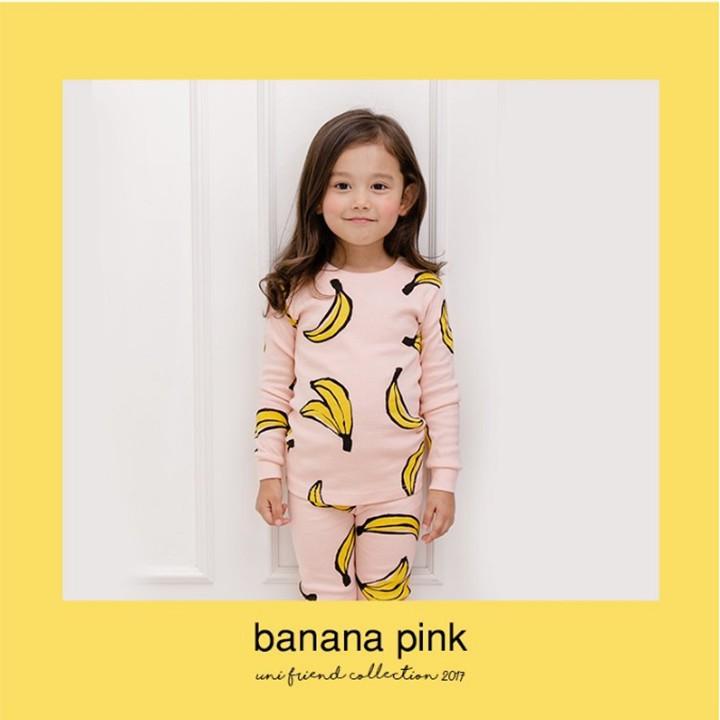 Bộ đồ chuối xuất Hàn cho bé gái - Banana Pink 4