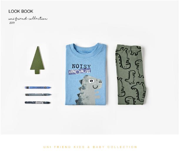 Bộ đồ cotton cho bé - Đồ xuất Hàn - UniFriend 3