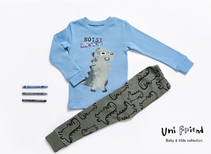 Bộ đồ cotton cho bé - Đồ xuất Hàn - UniFriend 6
