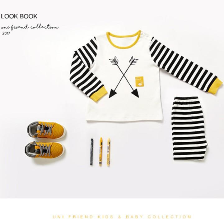 Bộ đồ cotton cho bé trai - quần áo trẻ em - đồ bộ cho bé 6