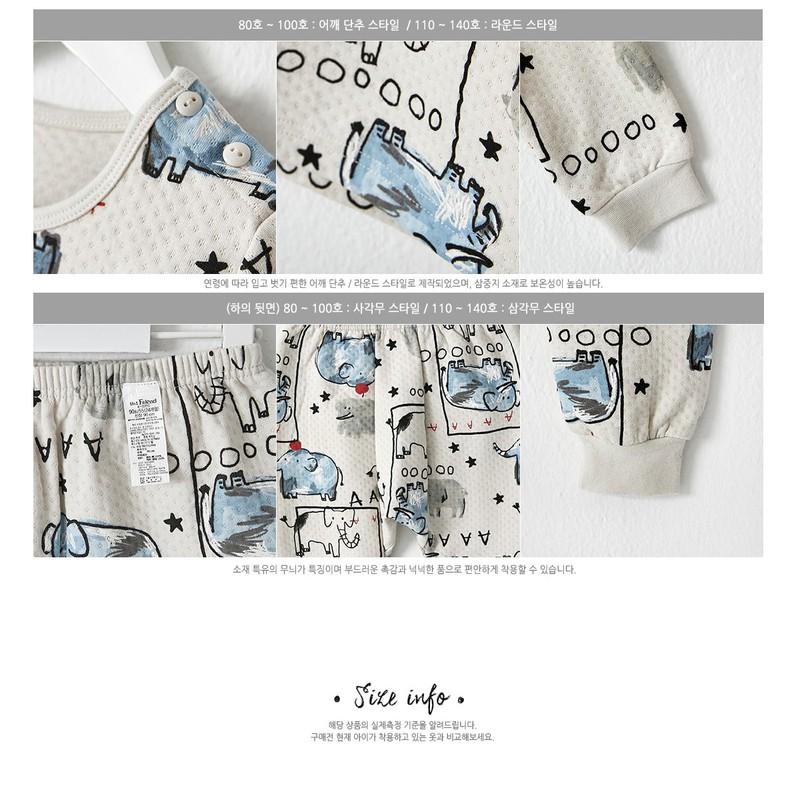 Bộ đồ cotton hình voi cho bé - quần áo trẻ em 4