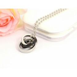 dây chuyền 2 chiếc nhẫn lồng
