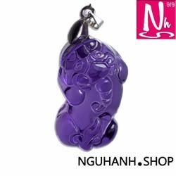 NHS019.68-Mặt dây chuyền Tỳ Hưu- đá thạch anh-trang sức phong thủy nữ