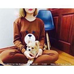Bộ đồ gấu teddy mặc nhà