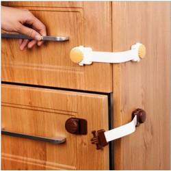 Khóa tủ lạnh, khóa cánh tủ Nhật an toàn cho bé 19cm