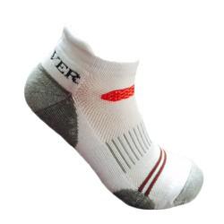 Tất thể thao nam cotton dầy cổ ngắn Activer  Sports màu trắng đỏ