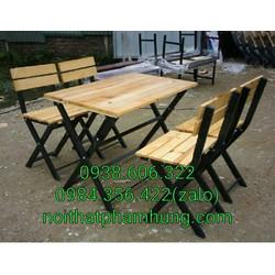 bàn ghế gỗ xếp quán ăn giá rẻ