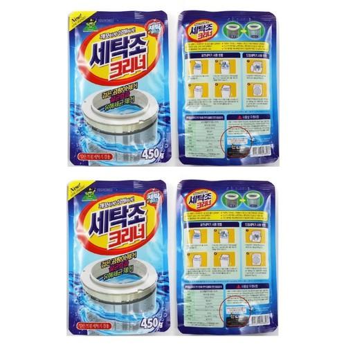 Bộ 4 gói bột vệ sinh tẩy lồng máy giặt Sandokkaebi Hàn Quốc 450Gr