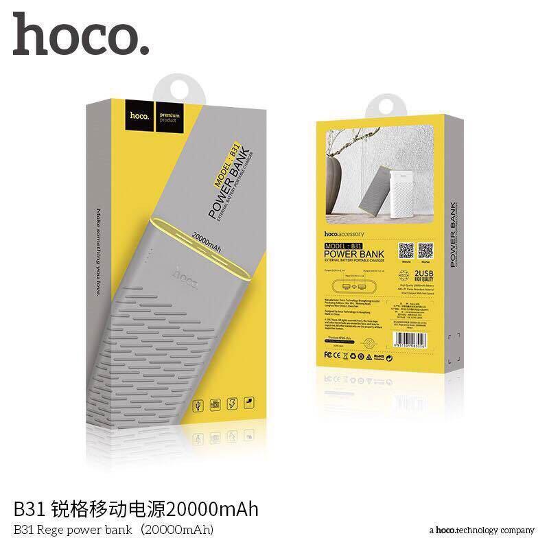 Pin sạc dự phòng HOCO B31 20000mAh chính hãng 12