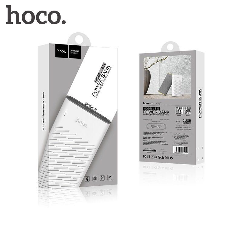Pin sạc dự phòng HOCO B31 20000mAh chính hãng 11
