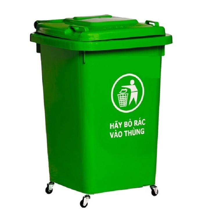 Thùng nhựa đựng rác 60 lít HITA - Có bánh xe 4