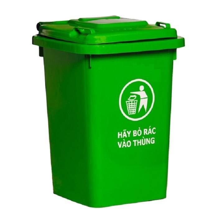 Thùng nhựa đựng rác 60 lít HITA - Không bánh xe 4