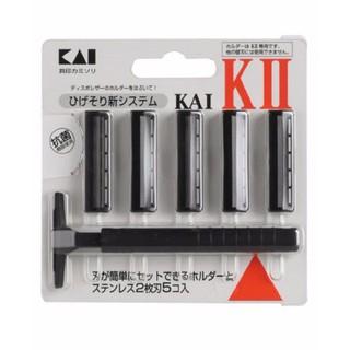 Set Dao cạo râu 2 lưỡi kép KAI 1 thân, 5 lưỡi Nhật Bản - 4901331003301 thumbnail