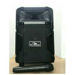 Loa kéo Bluetooth karaoke K108 tặng mic không dây cao cấp