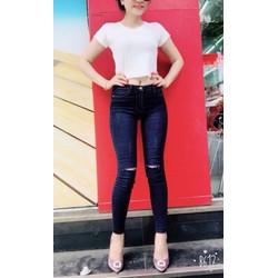 Quần jeans nữ rách gối hàng  shop cao cấp