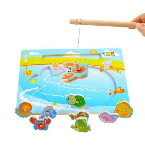 Bộ đồ chơi gỗ Nam Châm Câu Cá cho bé