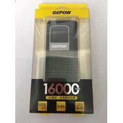 Pin Sạc Dự Phòng Chính Hãng Gepow GE-178 16000 mAh - 3 Cổng Sạc USB