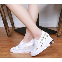 Giày slip on đế độn lưới V3 MÀU TRẮNG
