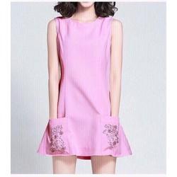 Đầm suông 2 túi